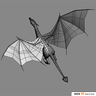 Low poly dragon 3d model click to buy