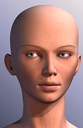 High end Female head 3d model